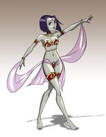 Raven as dancing slave by AndronicusVII