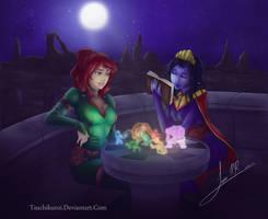Izzalia And Arminia play holo chess by AndronicusVII