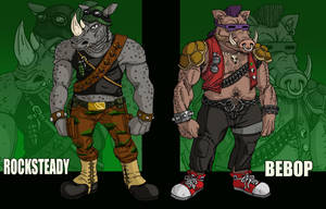 Rocksteady and Bebop by DLTabor