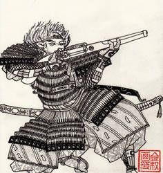 Matchlock Samurai Sheep by Shasiel