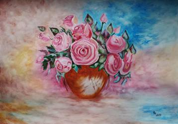 Roses (acrylic painting) by AlexandraDart