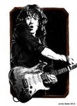 Rory Gallagher - Portrait by janston
