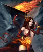 Pyromancer fire lotus by Za-Leep-Per