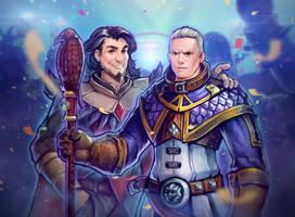 Medivh and Khadgar by Za-Leep-Per