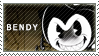 BATIM - Bendy The Dancing Demon Stamp by LoveBeautySparkle