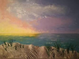 Soleil couchant sur les dunes  by brunolito