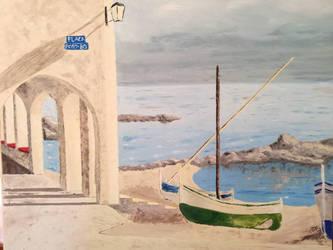 barques sur la plage de Cadaques by brunolito