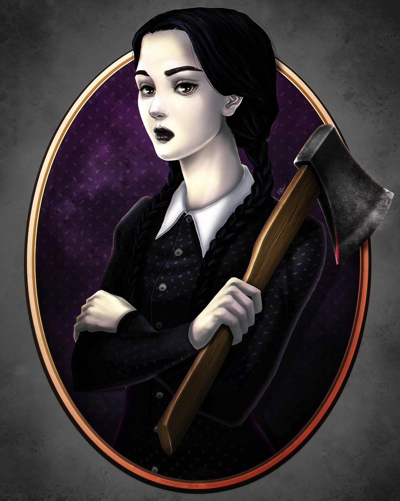 Adult Wednesday Addams by eldridgeque