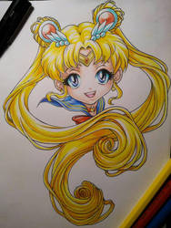 Chibi Sailor Moon by eldridgeque