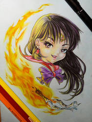 Chibi Sailor Mars by eldridgeque