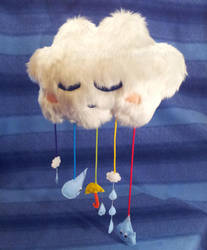 Rain Cloud mobile by PastYourPorchlight