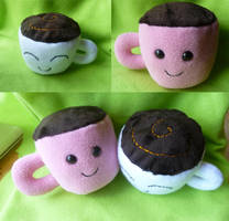 Happy Plush Coffee/Tea by PastYourPorchlight