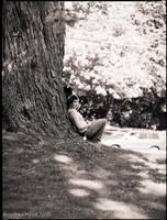 Melissa under the tree by TheGreenFairy
