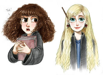 Hermione and Luna by courtneygodbey