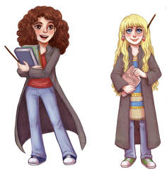 Hermione and Luna 2 by courtneygodbey