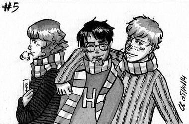 Inktober #5 : Harry Potter by Chitsuu