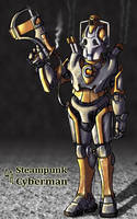 Steampunk Cyberman by pixelfink