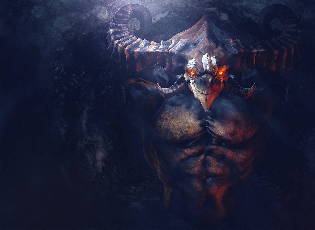 Demon Bust by Miguel-oliveira