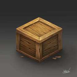 Wooden Crate by ohhn