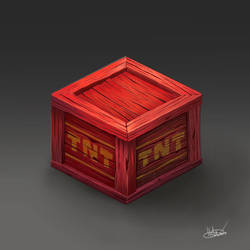 Crash Bandicoot TNT Box Fanart by ohhn