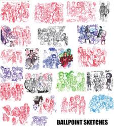 More Ballpoint Sketches by NikolasDraperIvey