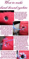 making hand-bound eyelet holes by Kathelyne
