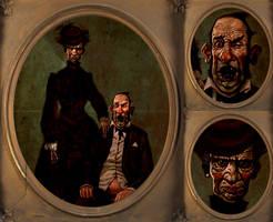 Bizarre Found Family Portrait by tycarey