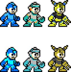 Mega Man 11 Master Weapons 8-Bit (So Far) by BraveBowmanTBW