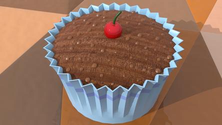 Chocolate Cupcake by Valdemaras