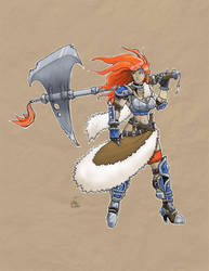 Lady Warrior by xHOJUx