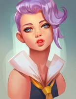 Purple_portrait by Lagunaya