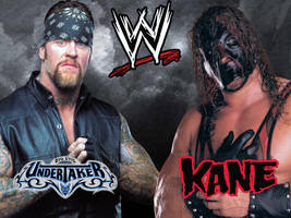 Kane and Undertaker Wallpaper - Early 2000s by deviantfafnir