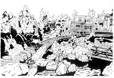 Big Thunder Mountain by monstercola