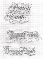 Random lettering by lowlife619