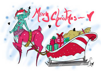 Santa-lope by Squidbiscuit