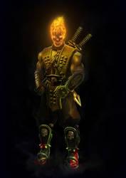 fan art Mortal Kombat Scorpion by Ifrit-HellFire