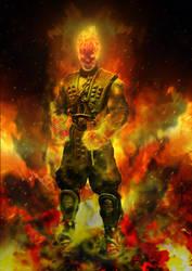 fan art Mortal Kombat Scorpion in the netherrealm by Ifrit-HellFire
