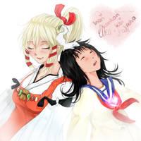 Uka and Inari by Schocko-chan