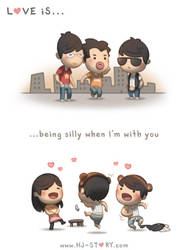 83. Love is... Being Silly by hjstory