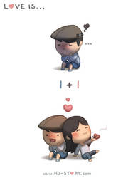 99. Love is...  One + One by hjstory
