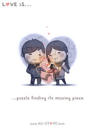 122. Love is... Missing Piece of Puzzle by hjstory