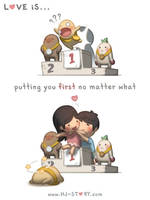 Love is... Putting You First by hjstory