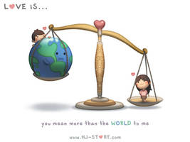 Love is... You Mean More Than The World to Me by hjstory