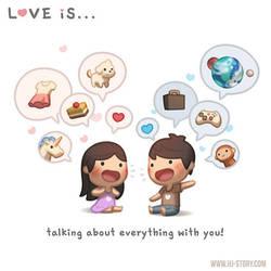 Love is... Talking! by hjstory