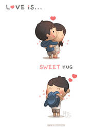 Love is ... Sweet hug by hjstory