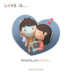 Love is.. Keeping You Warm by hjstory