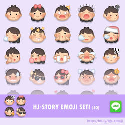 LINE Emoji released now! by hjstory