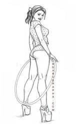 pinup sketch by GARV23