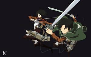 Mikasa and Levi by Kiisu-kun