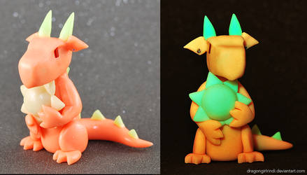 Glow-in-the-dark Dragon: The Sun by HowManyDragons